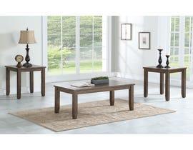 Brassex Sebastian Collection 3-Piece Wood Coffee Table Set in Light Grey TN-274