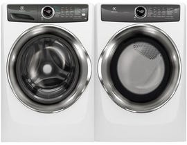 Electrolux Laundry Pair 5.0 cu. ft. Washer EFLS527UIW & 8.0 cu. ft. Electric Dryer in White EFMC527UIW