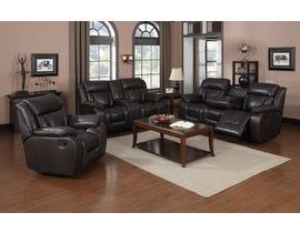 Brassex Hudson Series 3 Pc Reclining Sofa Set in Dark Brown SA1011