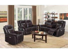 Oscar Leather Air 3pc Power Reclining Sofa Set in Chocolate Brown 9069