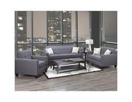 A&C Furniture 3-Piece Fabric Sofa Set in Royal Grey 3300