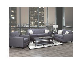 A-Class 3-Piece Fabric Sofa Set in Royal Grey 3300