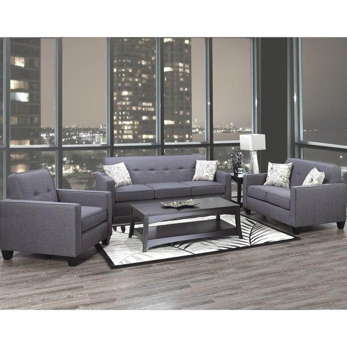 aafc1ae039 Sofa Set | A-Class Fabric Royal Grey 3300| Lastman's Bad Boy