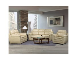 A-Class 3 Piece Leather Gel Living Room Set in Cream 7770