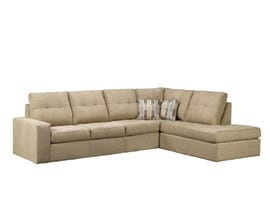 Sofa by Fancy Coral Collection Fabric Sectional Sofa in Annapolis Khaki 9883
