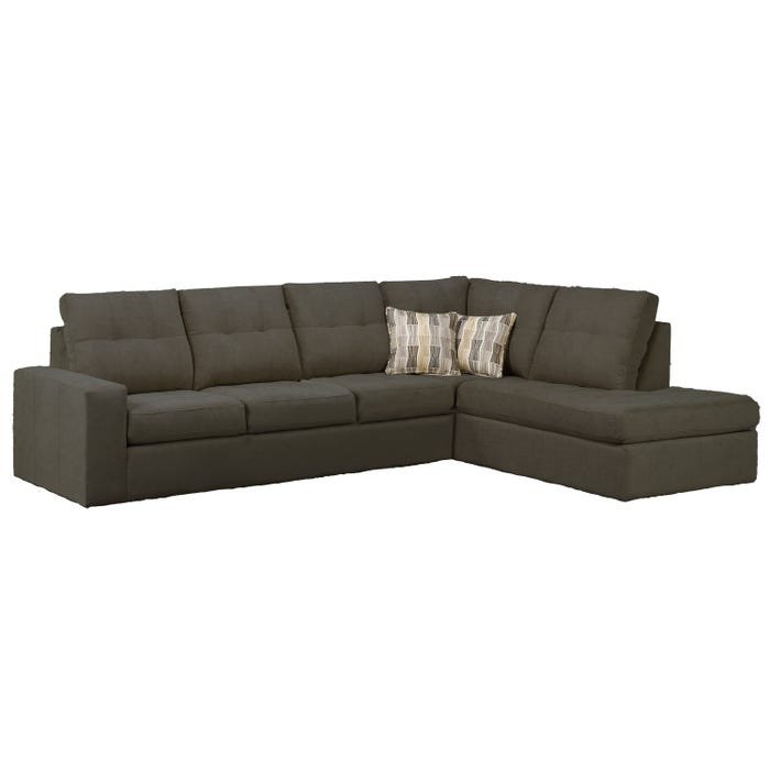 Sofa express by Fancy Coral Collection fabric 2-piece sectional in granite grey 9883