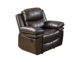 Norwich Bonded Leather Reclining chair in Dark Brown