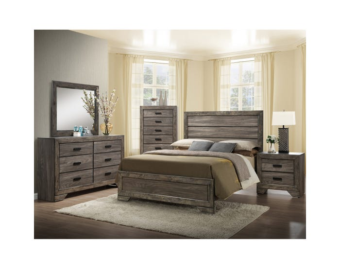 Nathan 6pc King Bedroom Set in Grey N100