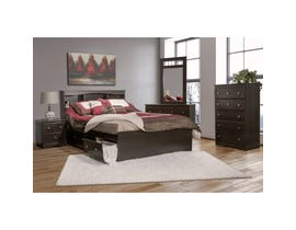 Modern Furniture wooden 6 piece queen bedroom set in dark 5000