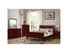 Louis Philippe 6pc Queen Bedroom Set in Cherry Finish C4937A