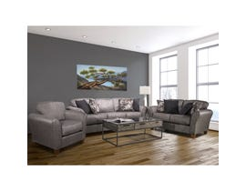 Flair Pompy 3-Piece Fabric Living Room Set in Grey 1140-PG