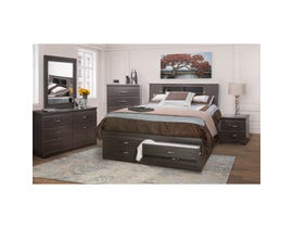 Modern Furniture 6pc Queen Storage Bedroom Set in Dark Brown 5600