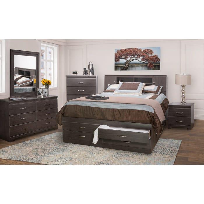 Tuxedo storage 6 piece queen bedroom set 5600