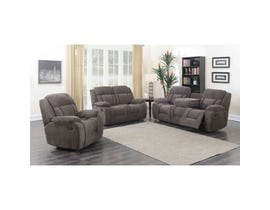 Primo Dario 3-Piece Corduroy Motion Reclining Living Room Set in Grey