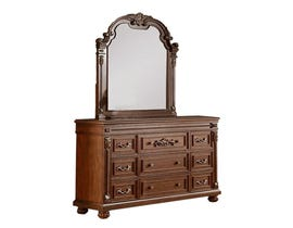 Destiny Collection Wood Dresser and Mirror Set in Cherry