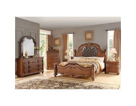 Destiny Collection 6 Pc Wood King Bedroom Set in Cherry