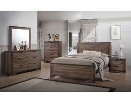 L-Style Vibrant Grain 6pc Queen Bedroom Set in Brown C7309A