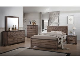 L-Style Vibrant Grain 6pc King Bedroom Set in Brown C7309A