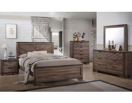 L-Style Furniture Vibrant Grain Bedroom Set in Brown C7309A