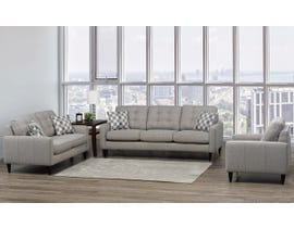 SBF Upholstery Rebel Series 3pc Fabric Living Room Set in Rebel Ash Grey 4326