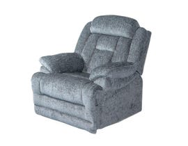 Flair Moraine Fabric Reclining Chair in Grey