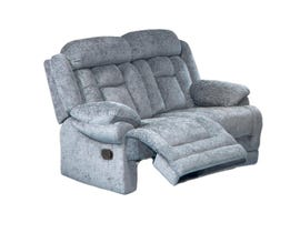 Flair Moraine Fabric Reclining Love Seat in Grey