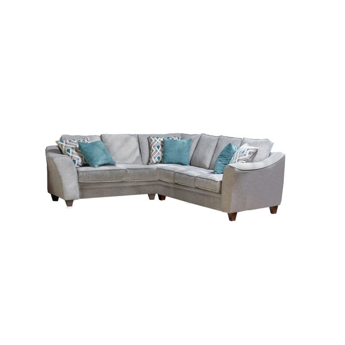 Flair Diamond Fabric Sectional in Grey 1010