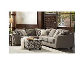 Flair Furniture LHF Fabric Sofa Sectional in Paradigm Smoke 1010