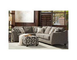 Flair LHF Fabric Sofa Sectional in Paradigm Smoke 1010