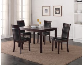 K Living Nellie 5pc Dining Table Set in Espresso T-3648