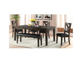 High Society Cooper Ridge 6-piece wood dining set in dark brown DCR100