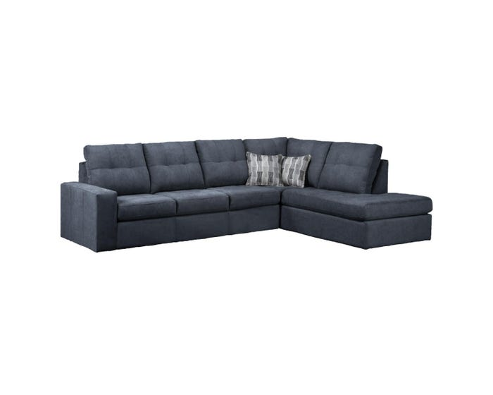 Fabulous Sofa By Fancy Fabric 2 Piece Sectional In Dark Grey 9883 Alphanode Cool Chair Designs And Ideas Alphanodeonline