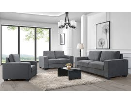 Charlestown Collection 3-Piece Fabric Sofa Set in Dark Grey J0993