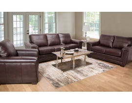 SBF Zurick Collection 3-piece Leather Match Sofa Set in Cranberry Brown 4395