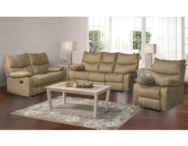 Peyto Collection 3-Piece Fabric Reclining Sofa Set in Sand PEYTO-SFB