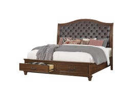 Cosmos Rocco Collection Queen Bed in Dark Cherry