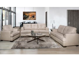 SBF Upholstery Zurick Series 3pc Leather Sofa Set in Zurick Bisque 4145