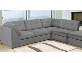 Edgewood Furniture 4 Pc Fabric Modular Sectional in Charcoal 1895