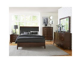 Mazin Pinewood/MDF 6 Piece King Bedroom Set in Cherry 1730