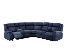 Cobalt Series Fabric Sectional in Midnight Blue