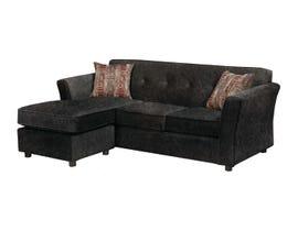 Sofa By Fancy Fabric 2PC Sectional in Fargo Grey 2500