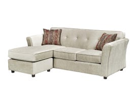 Sofa By Fancy Fabric 2PC Sectional in Kord Ivory 2500