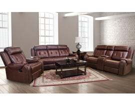 Baker Series 3pc Leather Gel Reclining Sofa Set in Cognac 170