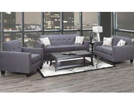 A&C Furniture 3-Piece Fabric Sofa Set in Royal Grey 3300