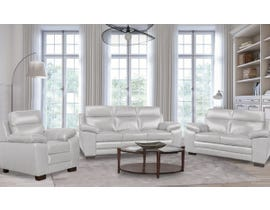 A&C Furniture Leather 3pc Sofa Set in Iceberg 1010
