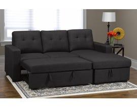 Monton Series RHF Fabric Sofa Bed w/Chaise in Grey KF5535