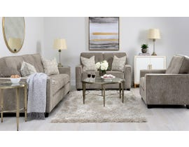 Decor-Rest Rico Collection 3pc Sofa Set in Pewter 2967