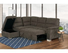 PR Furniture Callum LAF Sleeper Sectional with Storage Ottoman in Earth Brown 3597