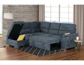 PR Furniture Callum LAF Sleeper Sectional with Storage Ottoman in Stone Grey 3519