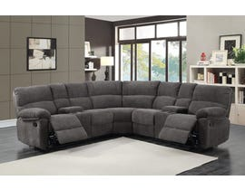 PR Furniture Hall 3 Piece Motion Reclining Sectional in Charcoal 3195